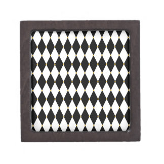 Harlequin Diamond Pattern Premium Trinket Box