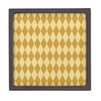 Harlequin Diamond Pattern Premium Keepsake Box