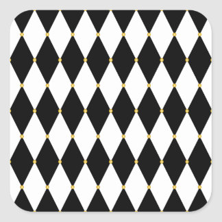 Harlequin Diamond Pattern Square Sticker