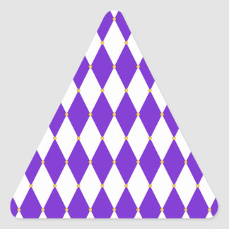 Harlequin Diamond Pattern Triangle Sticker