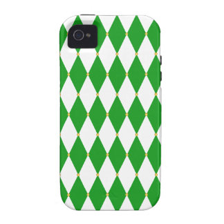 Harlequin Diamond Pattern Vibe iPhone 4 Cases