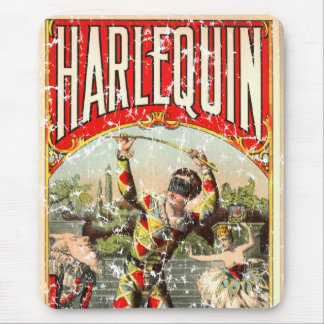 Harlequin - distressed mouse pad