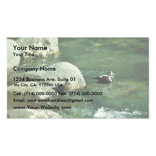 Harlequin Ducks Business Card Templates