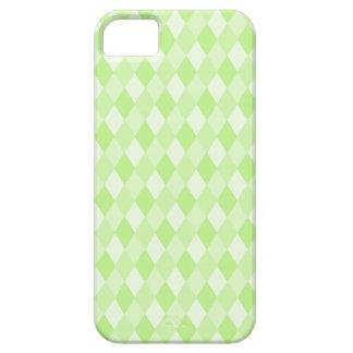 Harlequin en verde funda para iPhone 5 barely there