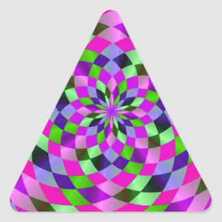 Harlequin Flare Triangle Sticker