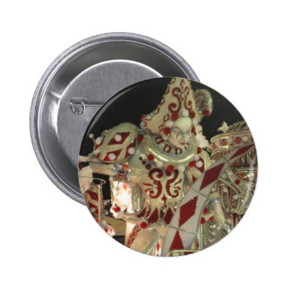 Harlequin float at carnaval in Rio Pinback Button