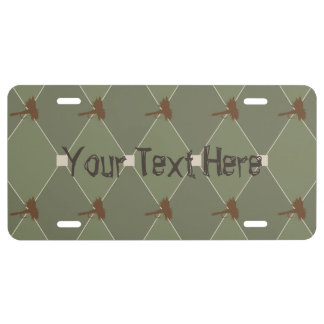 Harlequin Fly Fishing Lures Pattern License Plate
