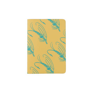 Harlequin Fly Fishing Lures Pattern Passport Holder