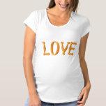Harlequin Gold LOVE Maternity T-Shirt