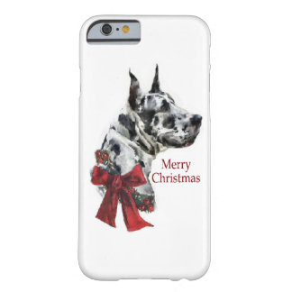Harlequin Great Dane Christmas Barely There iPhone 6 Case