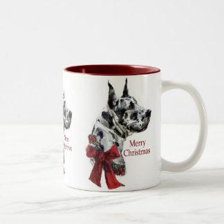 Harlequin Great Dane Christmas Gifts Mugs