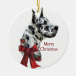 Harlequin Great Dane Christmas Gifts Ornament