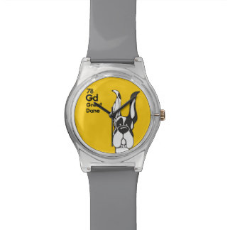 Harlequin Great Dane Cropped Ears - The Dog Table Wristwatch