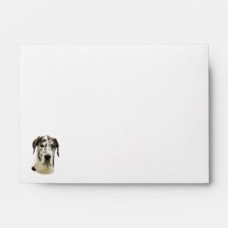Harlequin Great Dane dog photo Envelopes