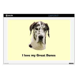Harlequin Great Dane Pet Portrait Laptop Decals