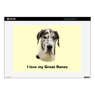 Harlequin Great Dane Pet Portrait Laptop Skin