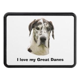 Harlequin Great Dane Pet Portrait Trailer Hitch Cover