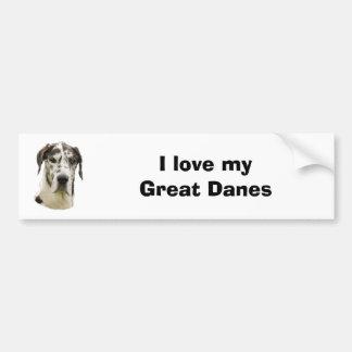 Harlequin Great Dane photo Bumper Sticker