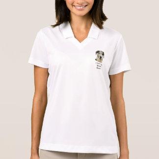 Harlequin Great Dane photo portrait Polo Shirt
