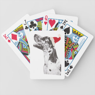 Harlequin Great Dane Playing Cards