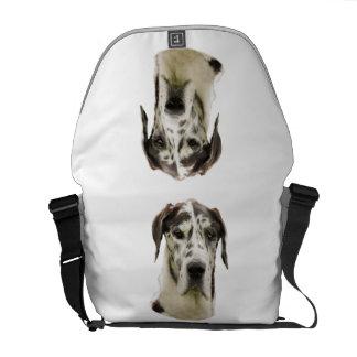 Harlequin Great Dane Portrait Photo Courier Bag