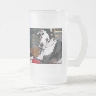 Harlequin great dane taza de cristal