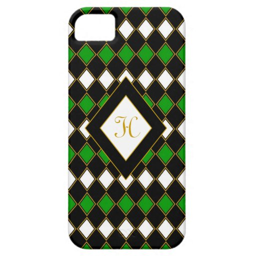 Harlequin Green & Gold iPhone 5 Cover