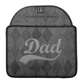 Harlequin Grey Shades Dad Sleeves For MacBooks