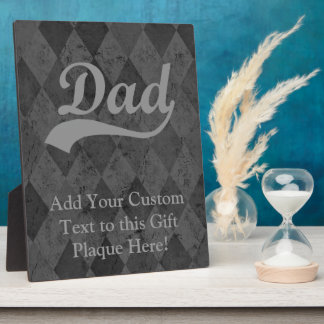 Harlequin Grey Shades Dad Plaque