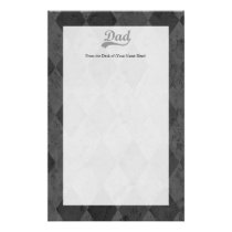 Harlequin Grey Shades Dad Stationery