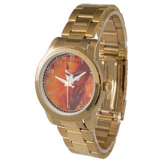 Harlequin hermoso reloj de mano