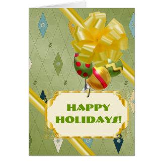 Harlequin Holiday Card