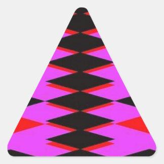Harlequin Hot Pink Jokers Deck Triangle Sticker