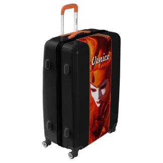 Harlequin in Orange at the Carnival of Venice Luggage