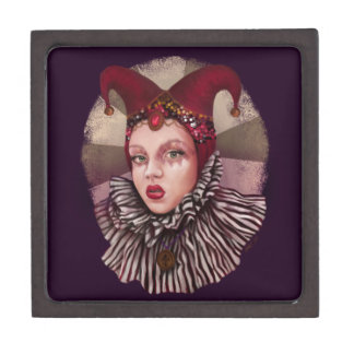 Harlequin Jester Premium Keepsake Boxes