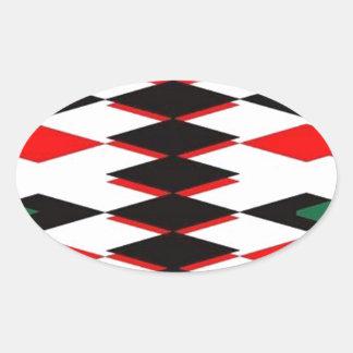 Harlequin Jokers Deck Oval Sticker