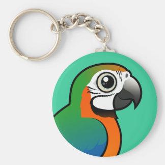Harlequin Macaw Key Chains