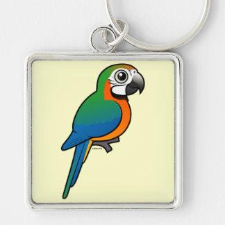 Harlequin Macaw Key Chain