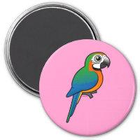 Harlequin Macaw Round Magnet