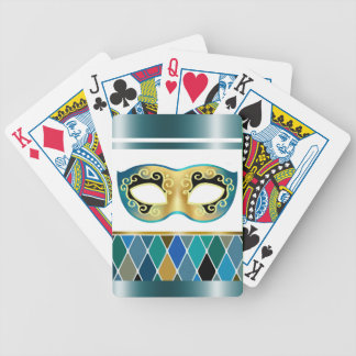 Harlequin Masquerade - teal | turquoise Bicycle Card Decks
