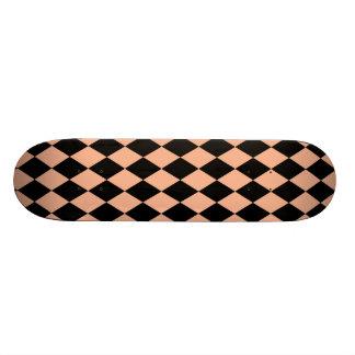 Harlequin Melon and Black Skate Deck