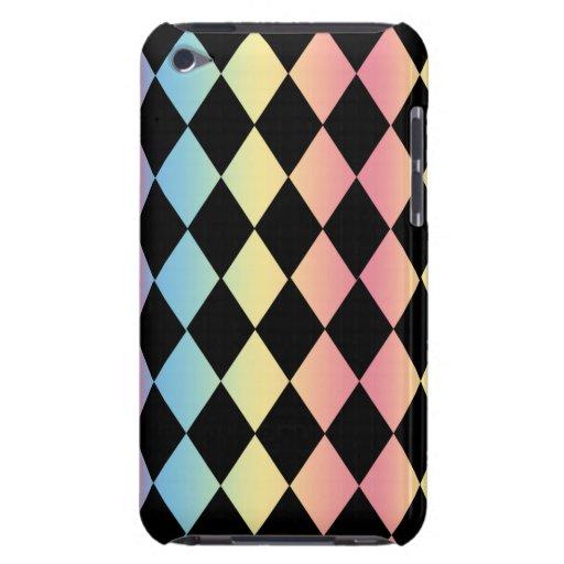 Harlequin Modelo-con fondo en colores pastel iPod Touch Case-Mate Cárcasa