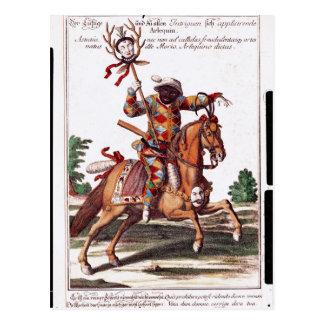 Harlequin on Horseback Postcard