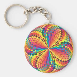 harlequin, optical illusion keychains