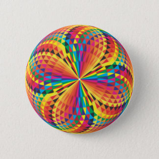 harlequin, optical illusion pinback button