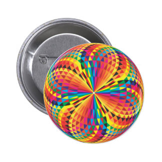 harlequin, optical illusion pinback button