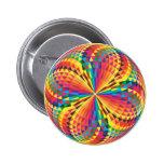 harlequin, optical illusion pinback buttons