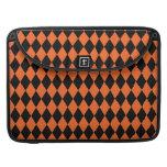 Harlequin Orange and Black Sleeves For MacBooks