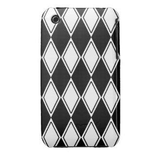 Harlequin Pattern Black and White Case-Mate iPhone 3 Case