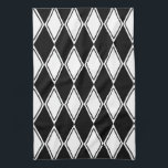 "Harlequin Pattern Black and White Towel<br><div class=""desc"">We welcome custom requests - if you would like this design in a different color combination to those already offered in our store,  please contact us and we would be happy to assist. A classic harlequin diamond pattern in black and white with a modern twist.</div>"